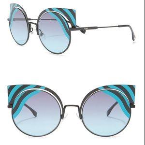 FENDI 53mm Cat Eye Sunglasses New $695